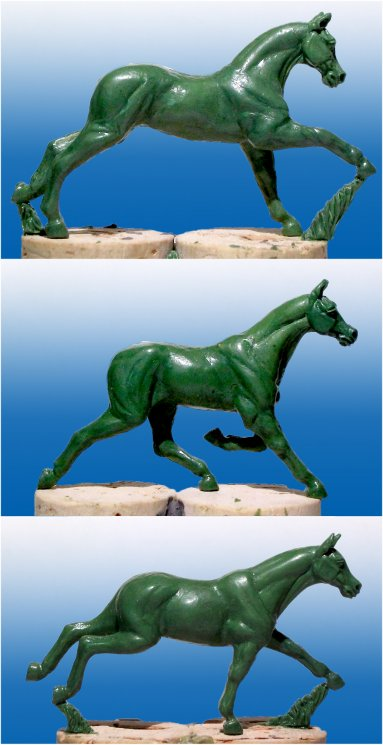 Arab horses in 1/56 scale